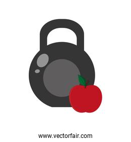 kettlebell and apple icon