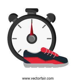 chronometer and sneakers  icon