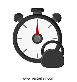 chronometer and kettlebell  icon