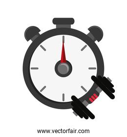 chronometer and dumbbell  icon
