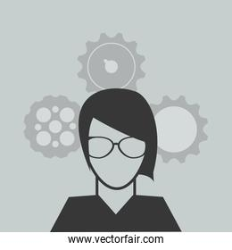 person and gears image