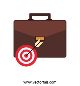 briefcase and bullseye icon