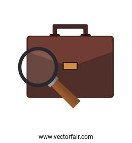 briefcase and magnifying glass icon