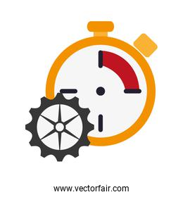 chronometer and gear  icon