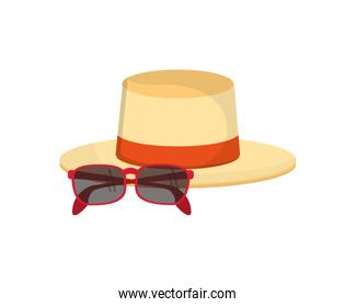 hat and sunglasses icon