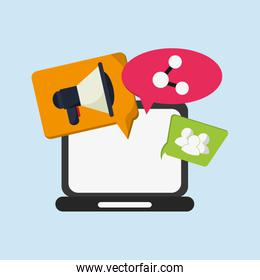 internet mobile communication related icons image