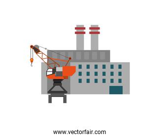 factory and industrial crane icon