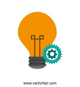 lightbulb and gears  icon
