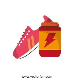 sneaker and protein supplement  icon