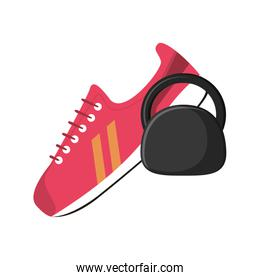 sneaker and kettlebell  icon