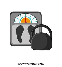 weight scale and kettlebell icon