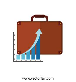 business briefcase and icon