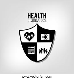 health insurance related icons emblem
