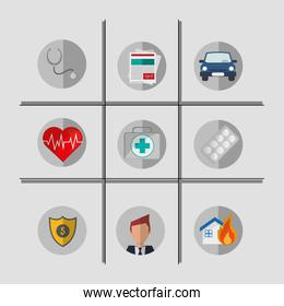 insurance services related icons image