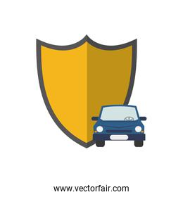 shield and car  icon