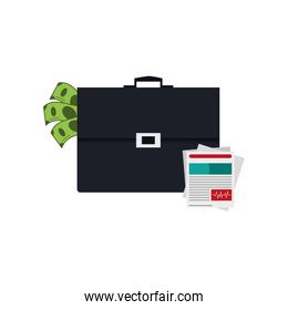 briefcase and medical history icon