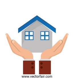 house and sheltering hands icon
