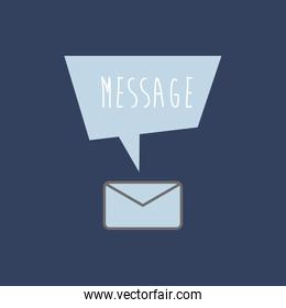 message envelope icon with sign on top image