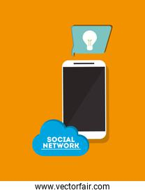 digital social network communication related icons image