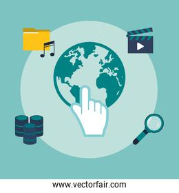 data center related icons image