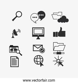 internet and communication related icons