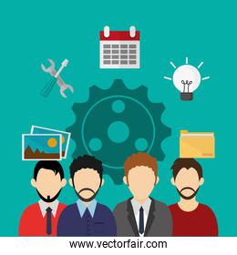 teamwork and business related icons image
