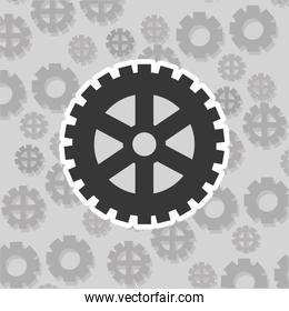 gears and pattern background image