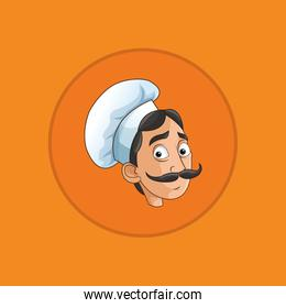 happy chef or cook icon image
