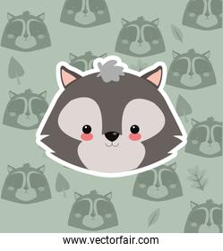 skunk with pattern background image