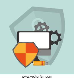 internet security related icons image