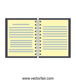 Notebook open isolated