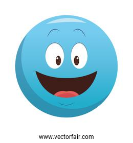Smiling chat emoticon