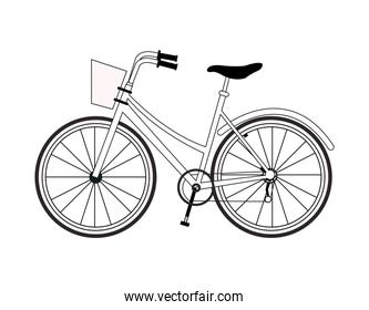 Vintage bike isolated in black and white