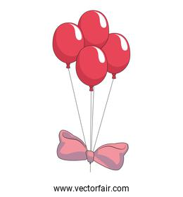 Bow tie with balloons