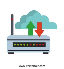 Internet router and cloud computer