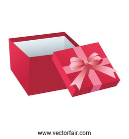 Pink giftbox open