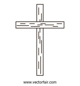 isolated christian wooden cross symbol