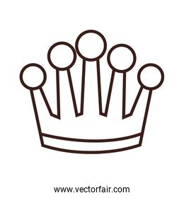 Crown cartoon isolated in black and white