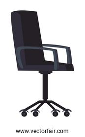 Office chair over white