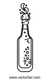 Beer bottle isolated