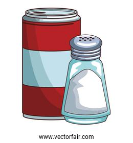 Soda can and salt shaker