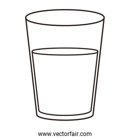 Water glass cup linear style