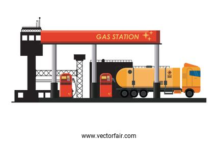 Gas fuel station