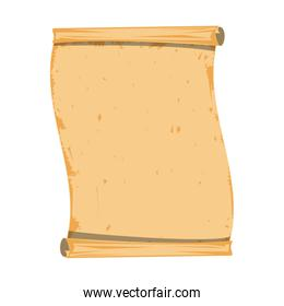 Blank parchment isolated