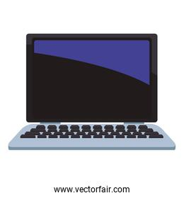 Laptop computer isolated