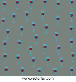 Wine cups background
