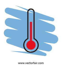 Thermometer symbol isolated