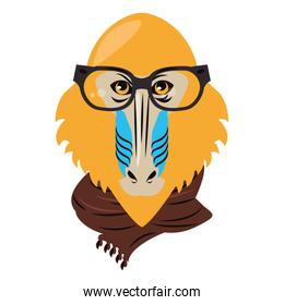 Hipster mandrill cool sketch