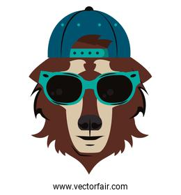 Hipster wolf cool sketch