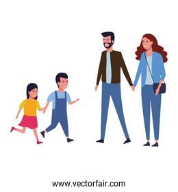 Cute family cartoon